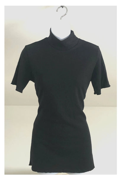 Hemp & Organic Cotton Black Mockneck