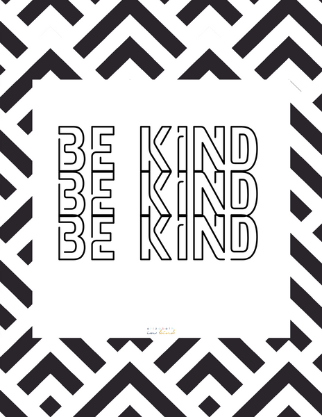 FREE Coloring Page - BE KIND Repeat