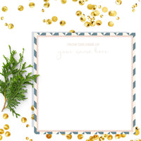 Geometric Note Paper in Custom Acrylic Tray
