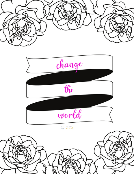 FREE Coloring Page - Change The World