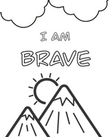 FREE Coloring Page - I am Brave