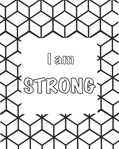 FREE Coloring Page - I am Strong