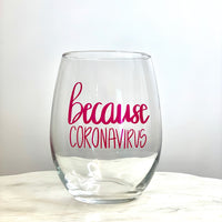 Because Coronavirus Glass