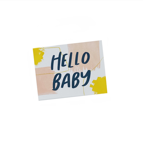 Hello Baby - Letterpress Card