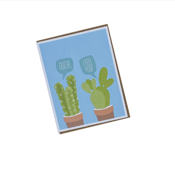 Cactus Greeted Get Well Card