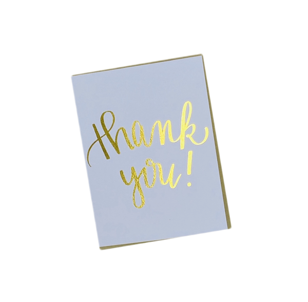 Gold Foil Thank You Greeting Card