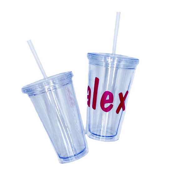 Monogrammed Double Walled Water Tumbler
