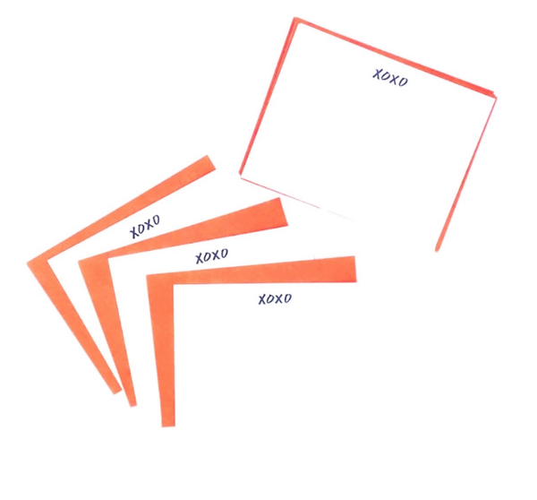 Xoxo Flat Notes - Set Of 8