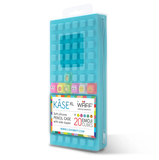 XL-Large Aqua Blue Kase Waff Pencil Case With Cubes