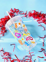 Doodle Double Walled Water Tumbler
