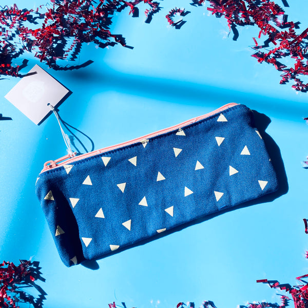 Midnight Triangles Pencil Pouch