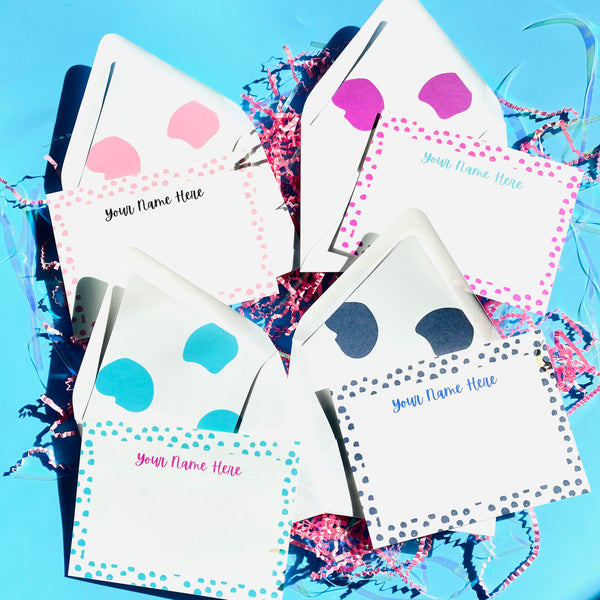Color Dot Stationery