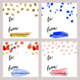 Color Dot Gift Tags
