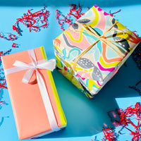 Multi stripe Bright Gift Wrap - Single Sheet