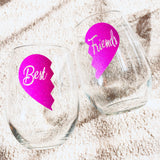 Best Friends Wine Glasses