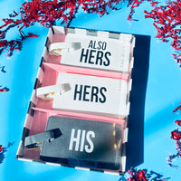 His / Her / Her Luggage Tag Set