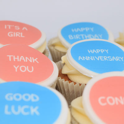 Personalised Text Cupcakes - Chummy's Bakery