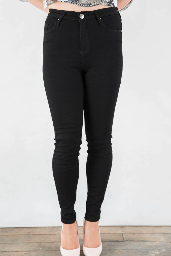 DENIM ~ Black High Waisted Stretch