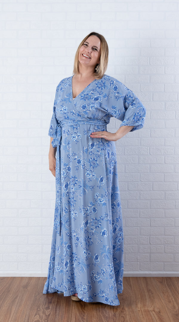 House of Lacuna ~ Ava Dress in dusty blue