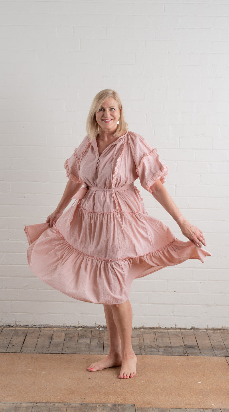 House of Lacuna ~ Summer Florence Dress in dusty pink