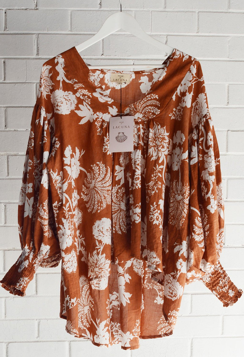 House of Lacuna ~ Siena Blouse Rust