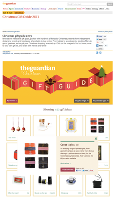 the guardian chistmas gift guide - december 2013