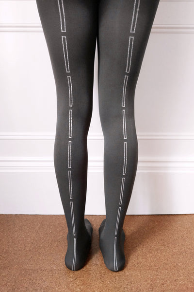 Grey Rectangle Tights