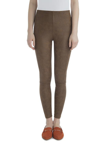 Buffed Suede Legging | Toffee