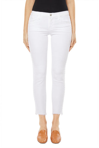 Low Rise Crop Skinny Braided | Blanc