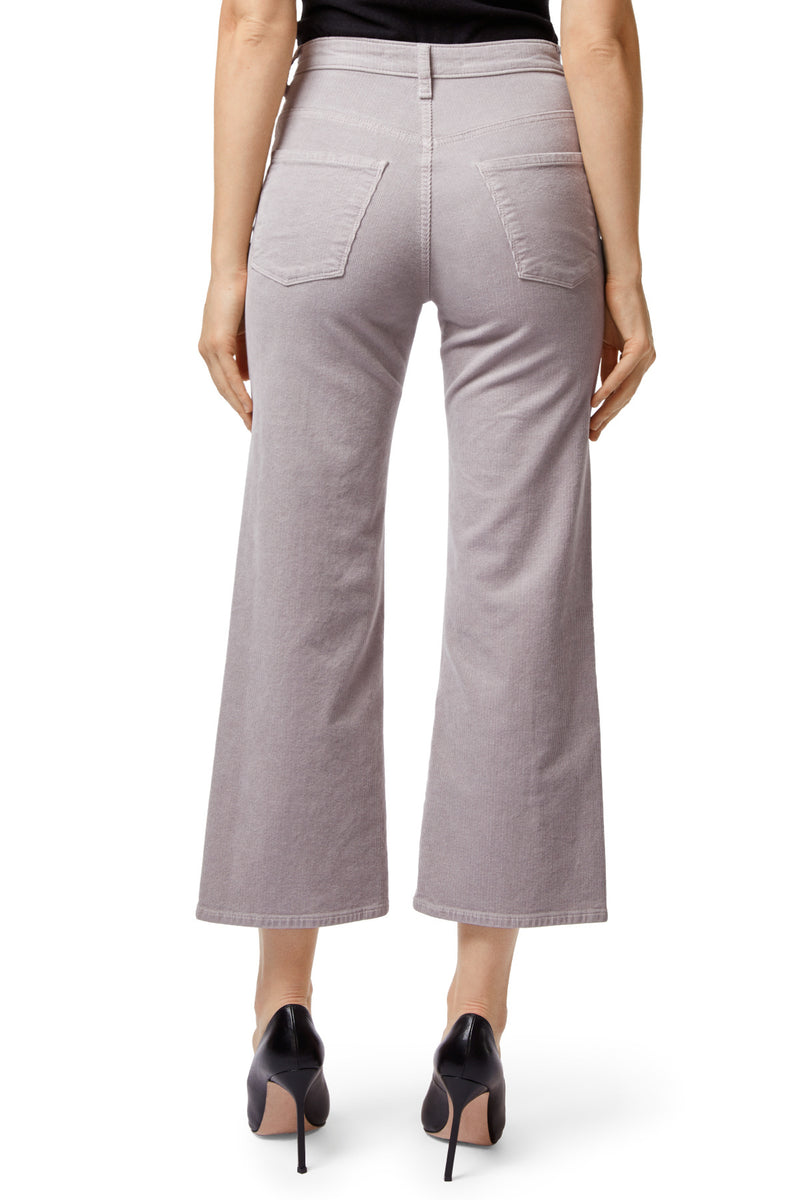 Joan High Rise Wide Leg Crop Corduroy | Mars