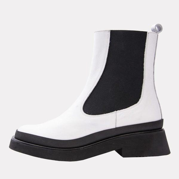 Esther Boot | White Leather