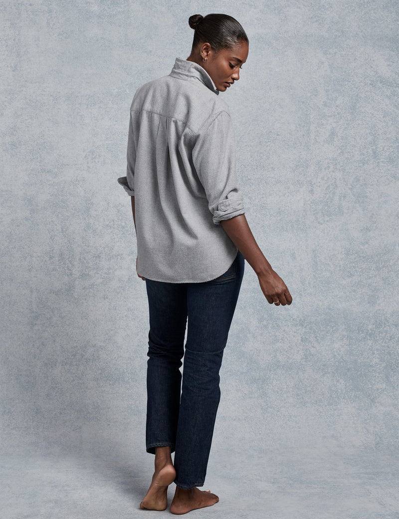 Joedy Button Down | Grey Flannel