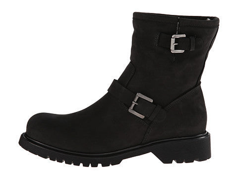 Hayes Shearling Lined Boot in Black Oiled Suede