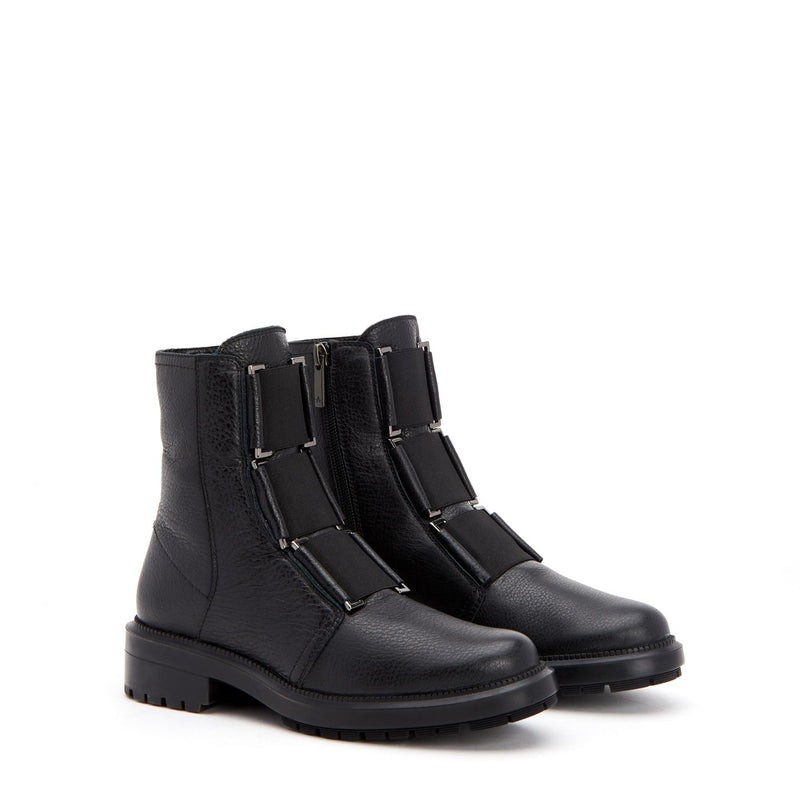 Liv Tumbled Leather Boot | Black