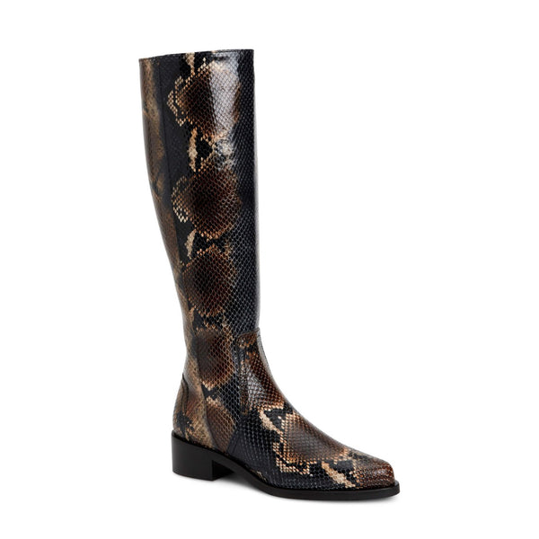 Gracelynn Boot | Navy Snake