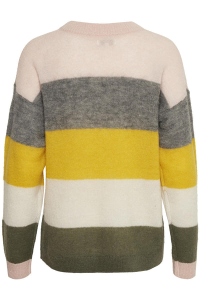 Stripe Crewneck Pullover | Medium Yellow