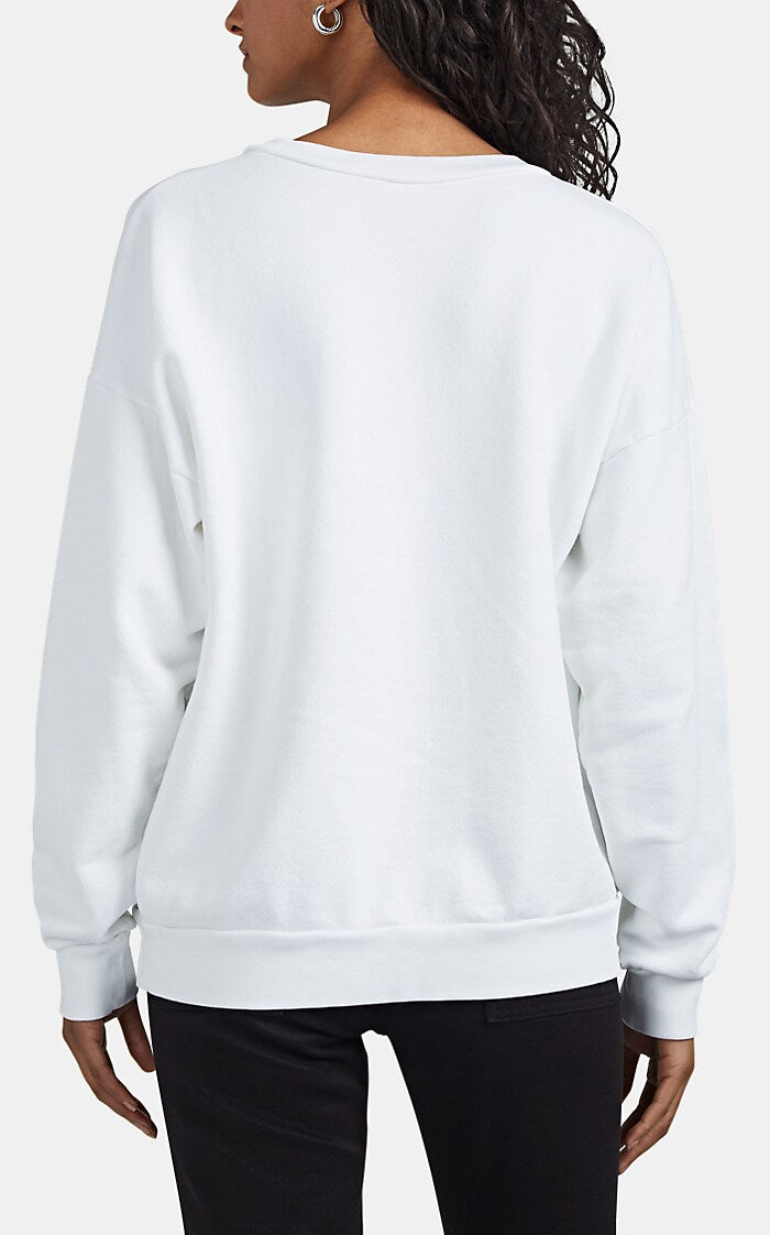 SPRWMN Calf Hair Sweatshirt | White