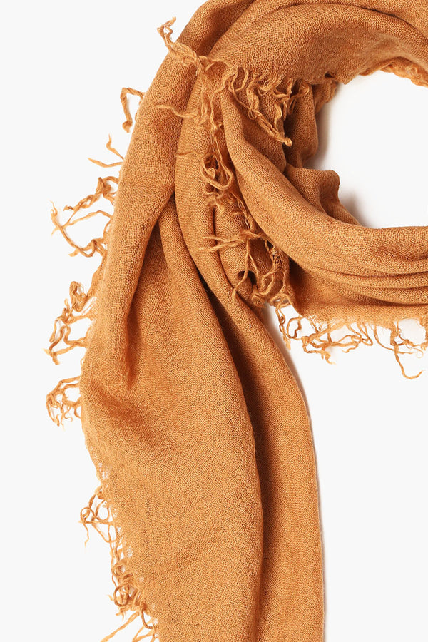 Silk & Cashmere Scarf | Brown Sugar