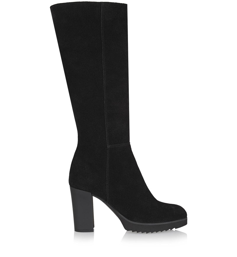 Monique Suede Tall Boot | Black