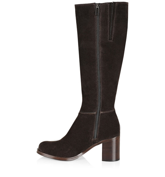 Peighton Weatherproof Tall Boot | Oiled Brown Suede