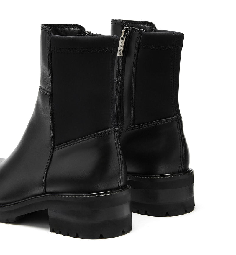 Callista Leather Bootie | Black
