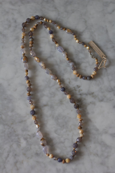 Mixed Long Necklace | Iolite