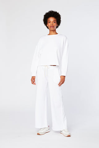 Ellie Pull On Lounge Pant | White