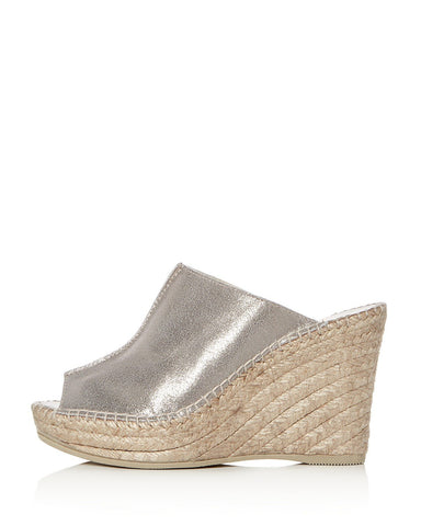 CiCi Wedge Espadrille | Pewter Suede