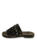 Bare Shearling Sandal | Black
