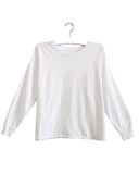Billie Drop Shoulder Long Sleeve | White