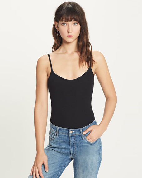 Ribbed Cami | Black