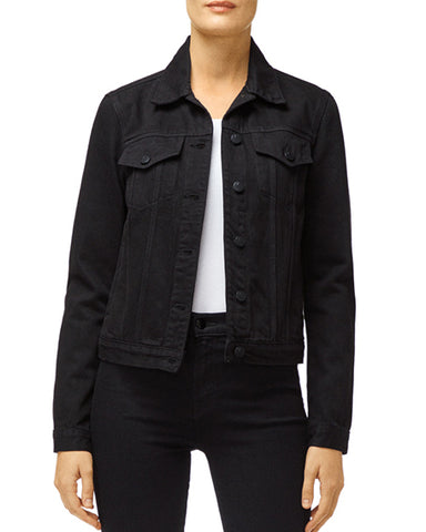 Slim Denim Jacket | Black