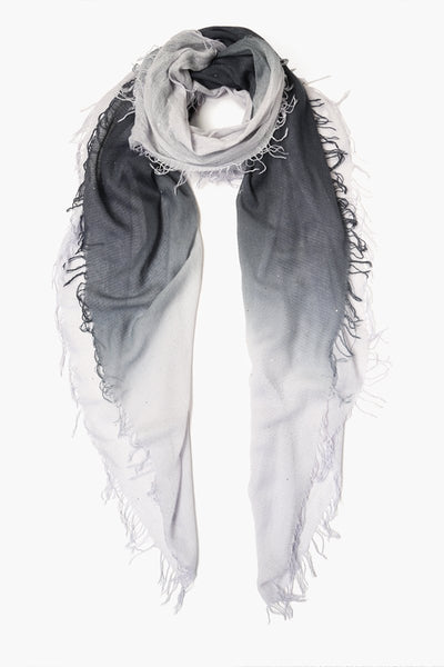 Cashmere & Silk Scarf | Blue Nights Grey Dawn