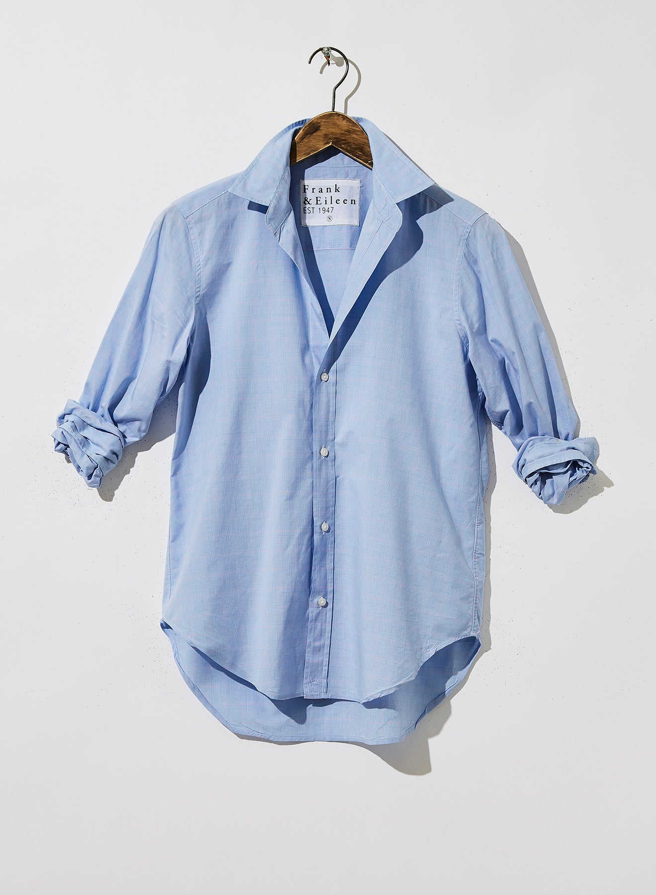 Frank Button Down   Blue with Pink Windowpane